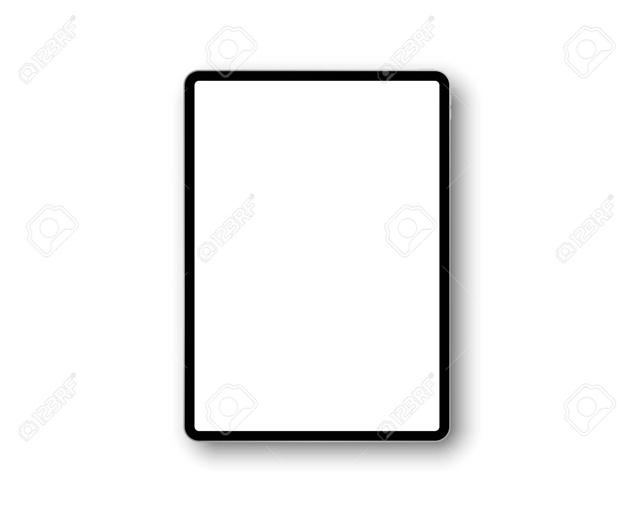 Device ipad pro with 11 inch display. Template frame with shadow. Tablet pc, mobile device. Multi-touch gadget. Template for design and presentation. Vector ipad illustration - 123115137