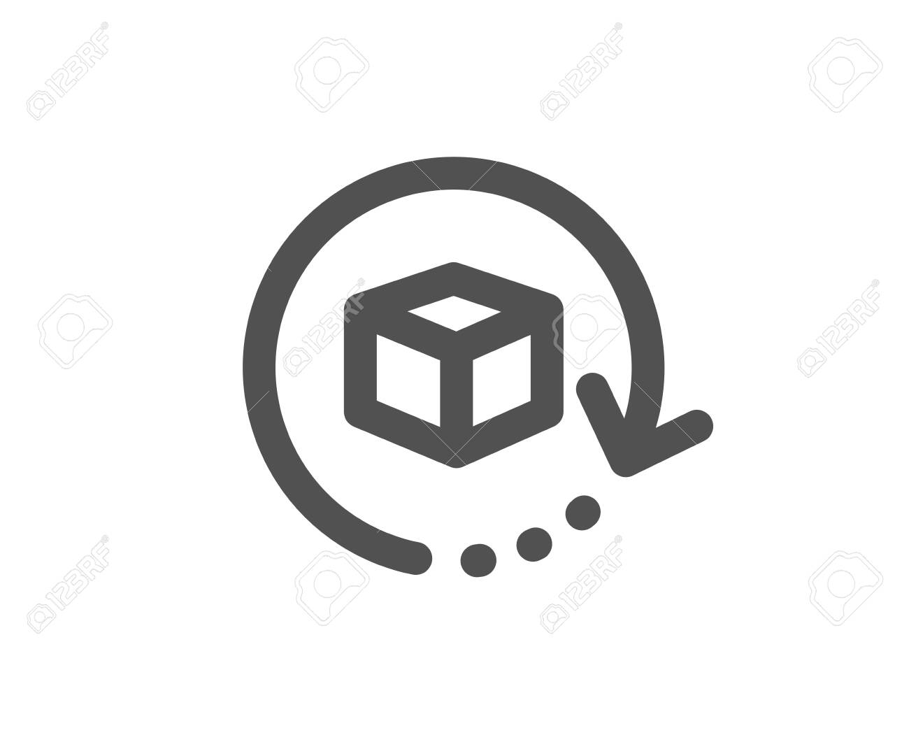 Delivery parcel sign. Return package icon. Cargo goods box symbol. Classic flat style. Simple return package icon. Vector - 130390049