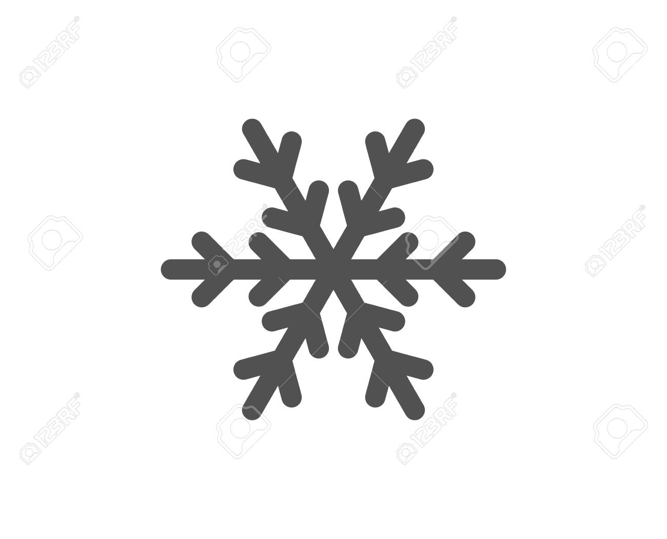 Snowflake sign. Air conditioning icon. Hotel service symbol. Classic flat style. Simple air conditioning icon. Vector - 134440924