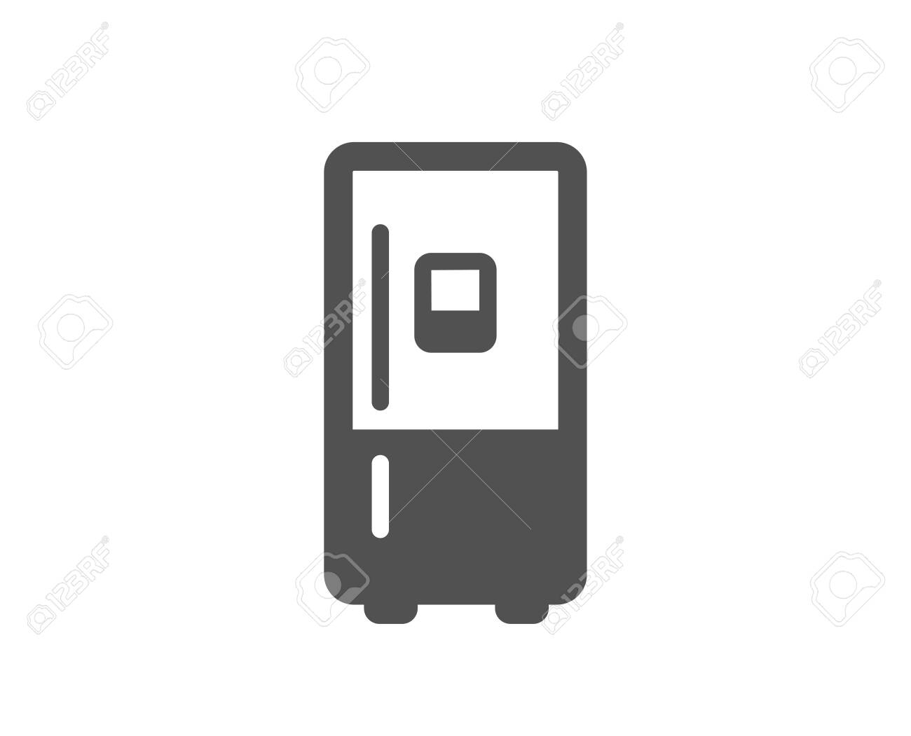 Refrigerator With Ice Maker Icon Fridge Sign Freezer Storage Royalty Free Cliparts Vectors And Stock Illustration Image 147203868