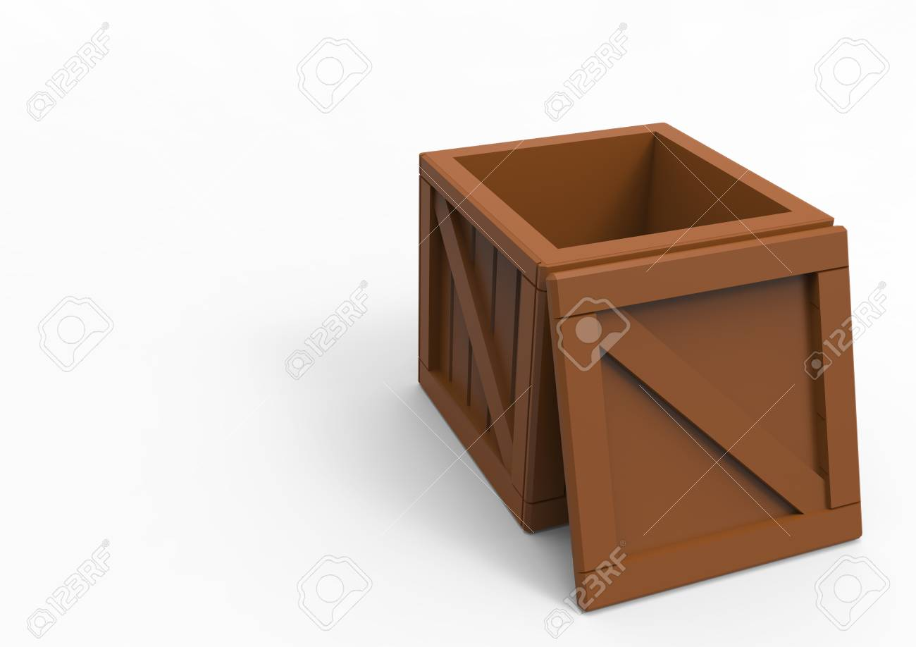 Frame Wooden Box 3D Isolate Stock Photo, Picture And Royalty Free ...