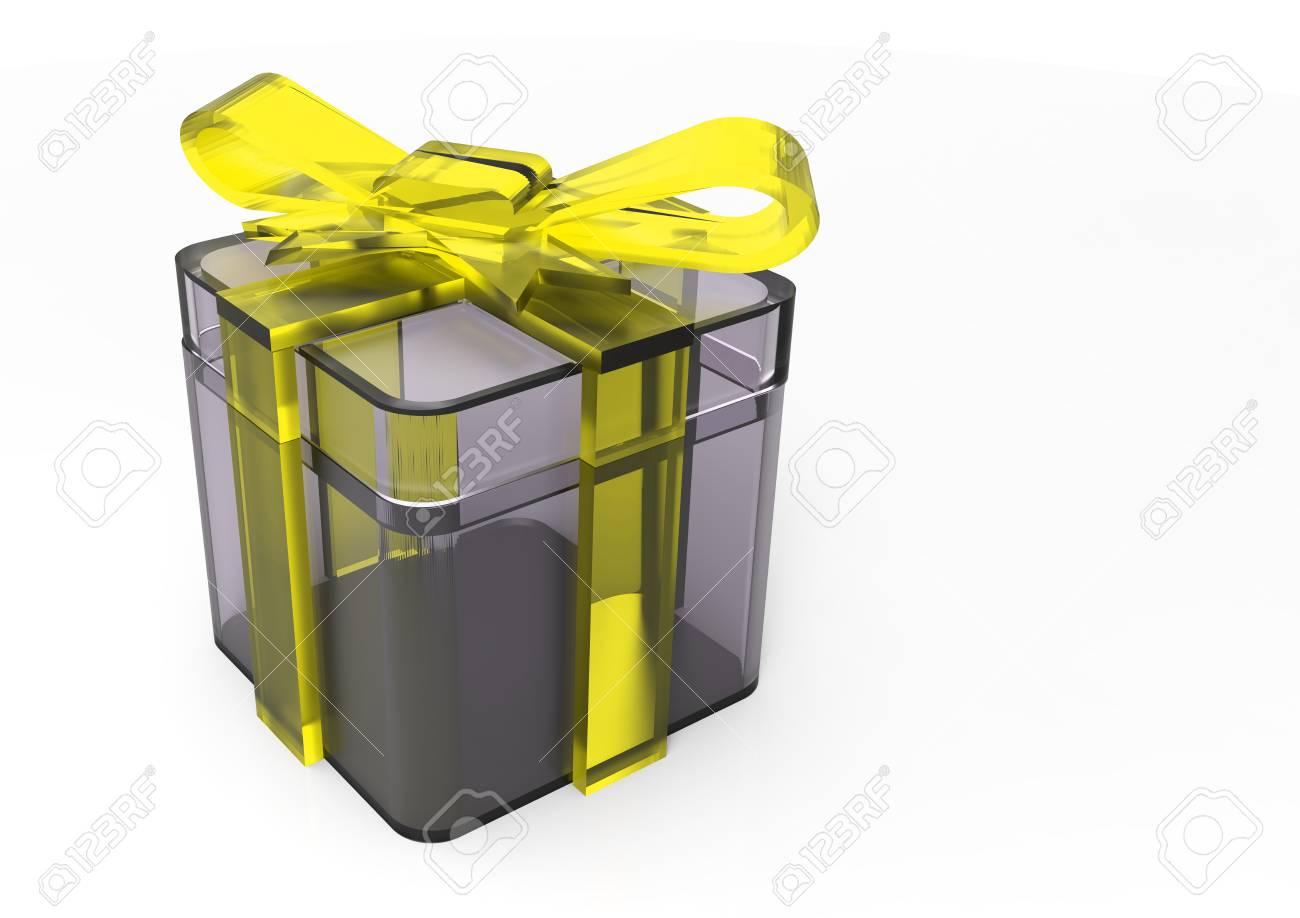 3d Render Isolieren Band Verpackt Geschenk Paket Lizenzfreie Fotos