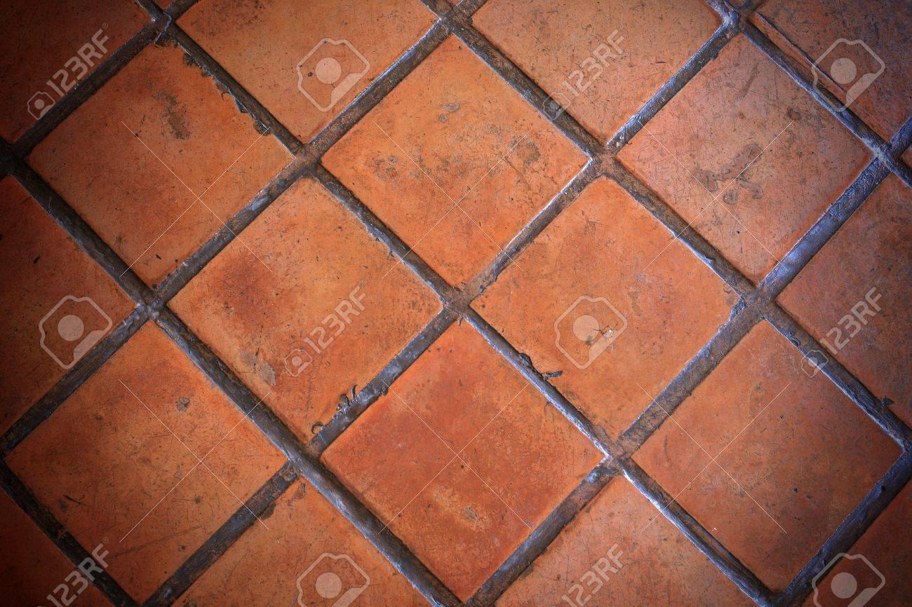 Closeup orange clay tile pavement stock photo picture and royalty closeup orange clay tile pavement stock photo 14054076 doublecrazyfo Image collections