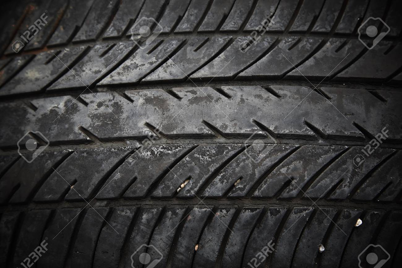 textured pattern of used car tire Stock Photo - 21609195