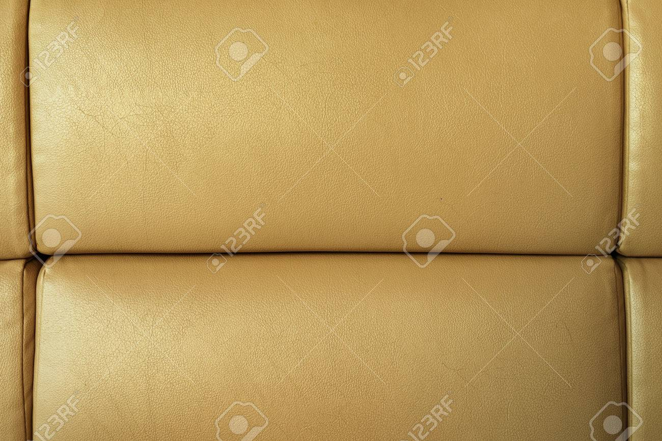 Golden Sofa Leather By Vintage Retro Style Stock Photo   54300525