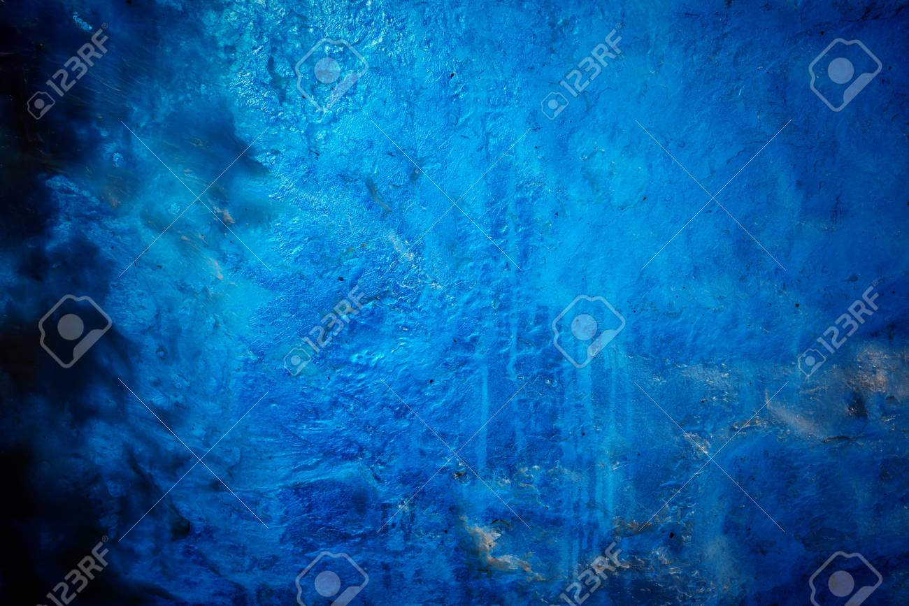 Blue Abstract of fake ice wall textured background