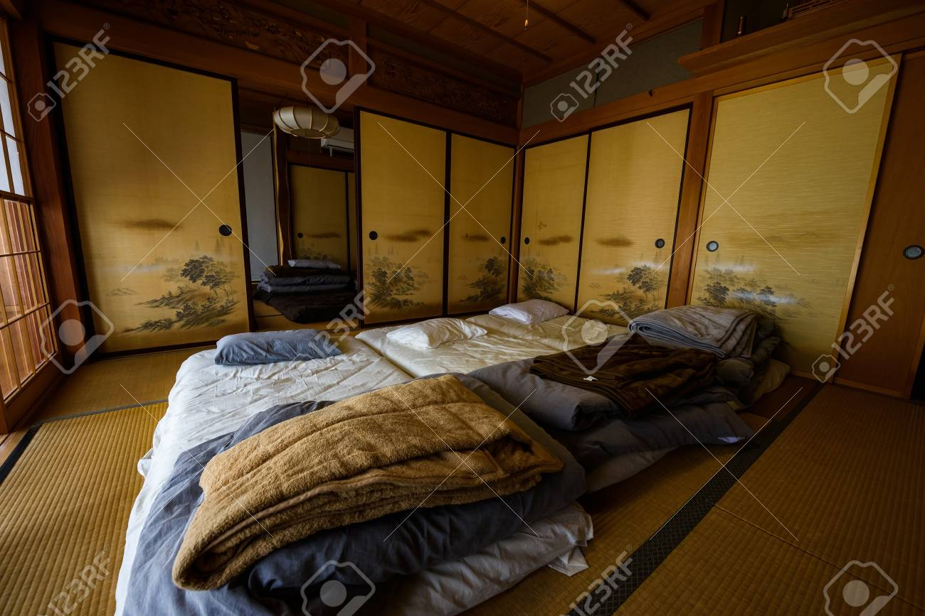 Outstanding Traditional Japanese Style Room Ryokan With Tatami Bed In Luxury Interior Design Ideas Philsoteloinfo