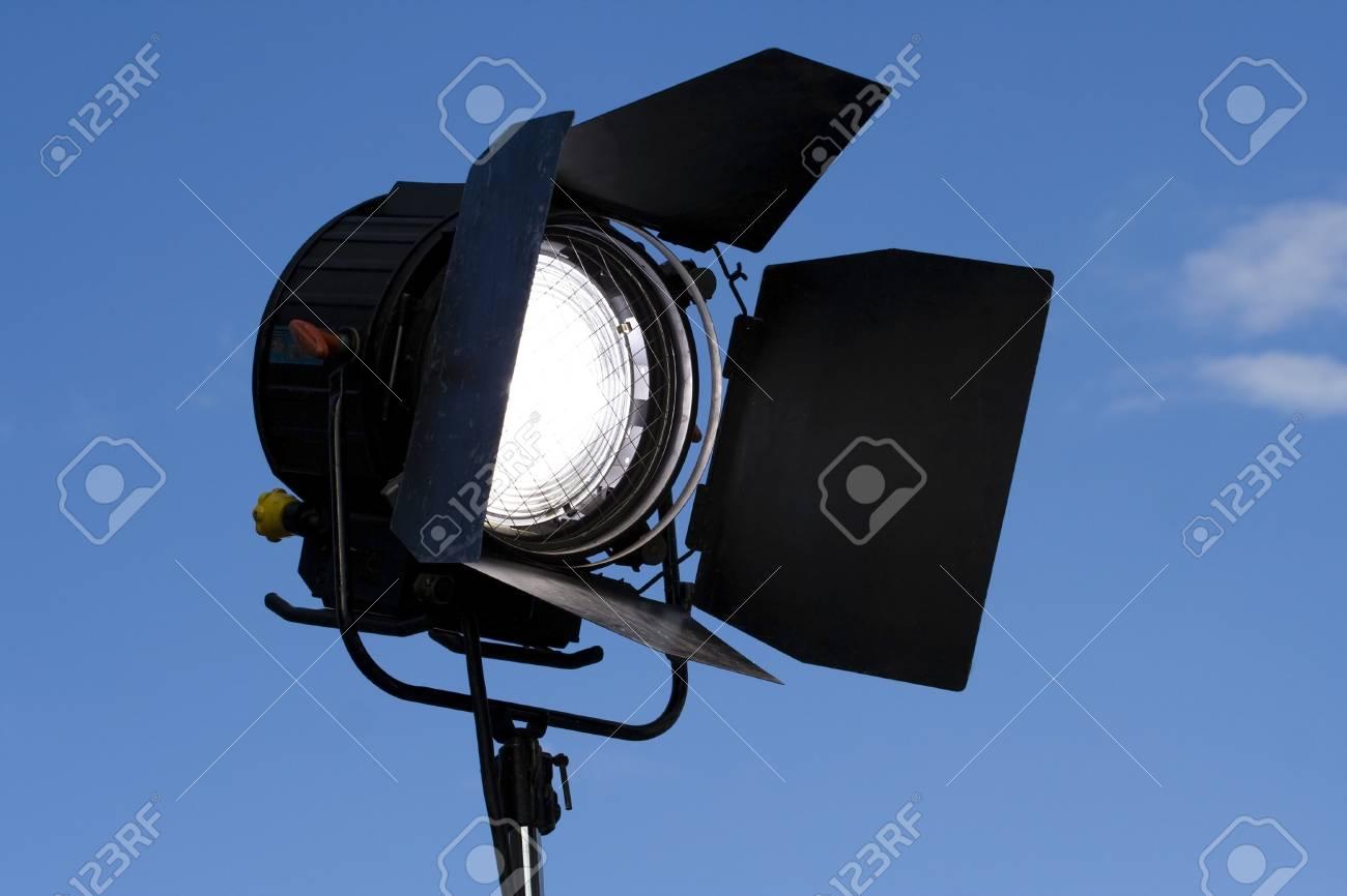Spotlight on stage over blue sky Stock Photo - 7944140