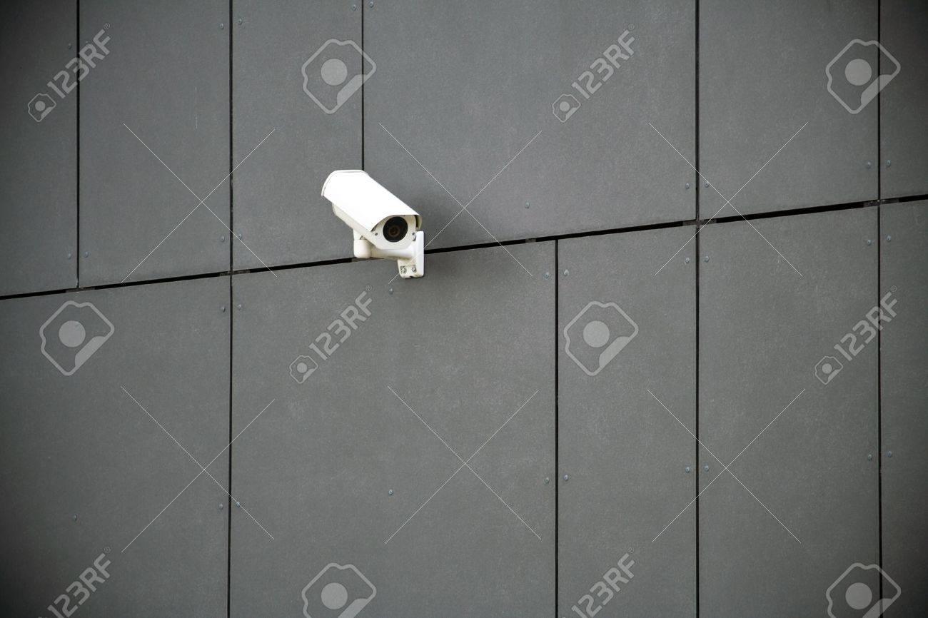 Security camera on dark modern building Stock Photo - 8093763
