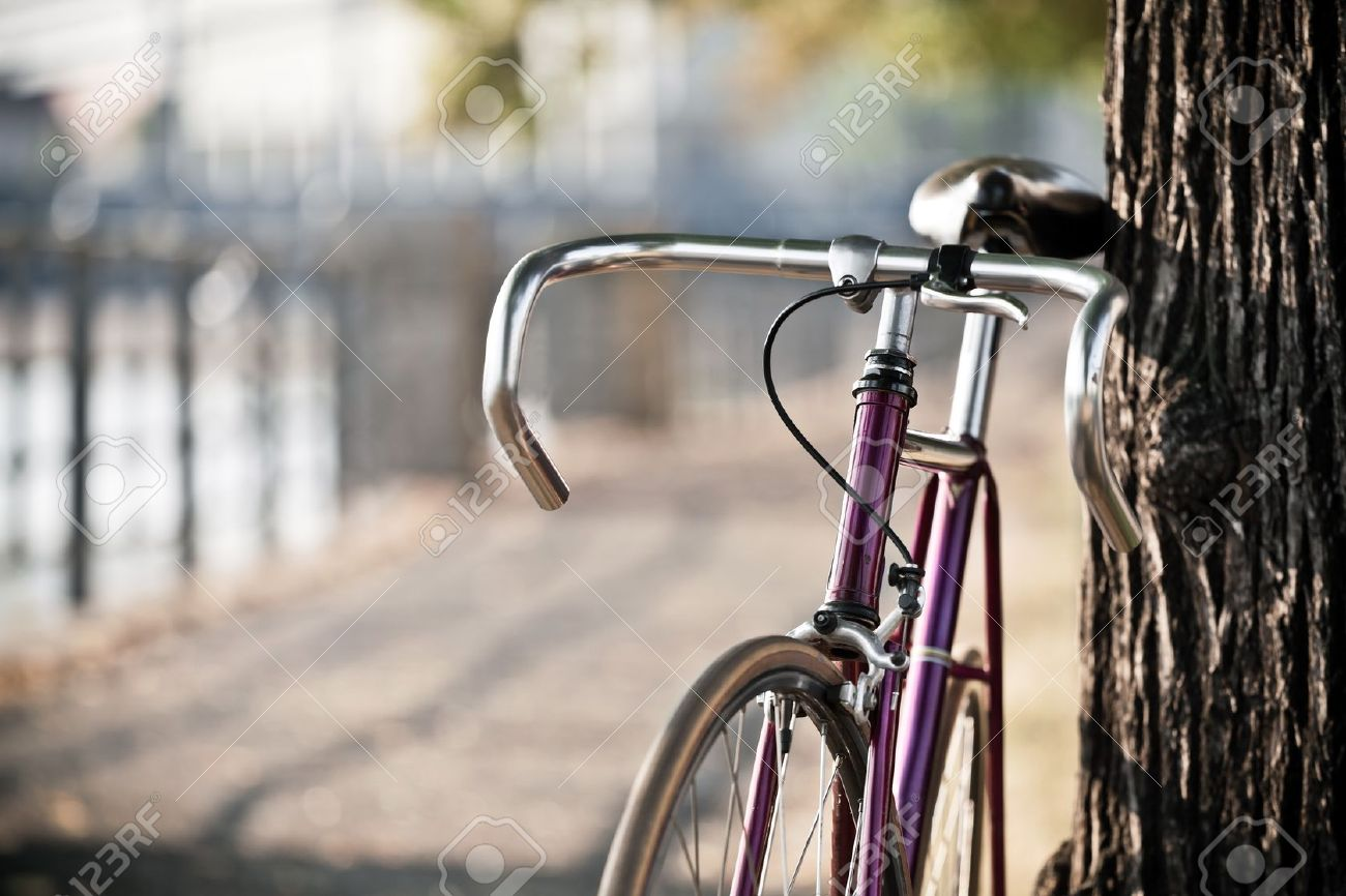 Road bicycle on city street - 15827718