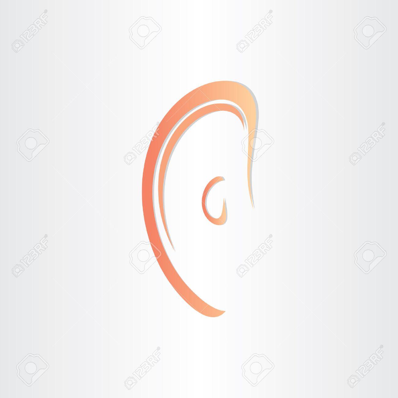 Organ Des Menschen Ohr Hören Stilisierte Icon Design Lizenzfrei ...