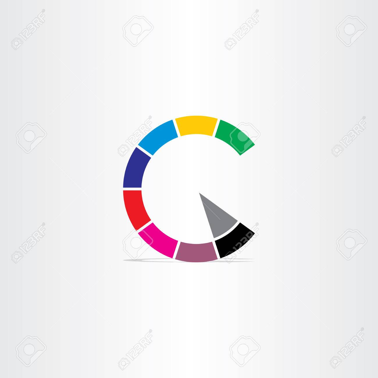 Letter c color copyright symbol icon royalty free cliparts vectors letter c color copyright symbol icon stock vector 40568951 biocorpaavc Images