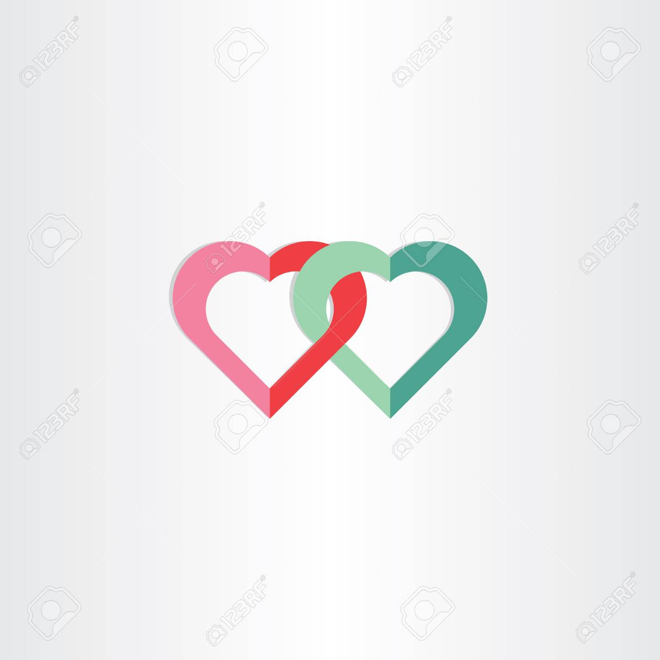 Green And Red Heart Symbol Design Stock Photo Picture And Royalty
