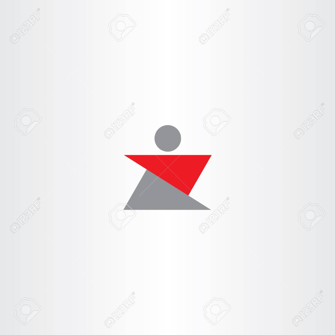letter z man icon logo sign shape royalty free cliparts vectors