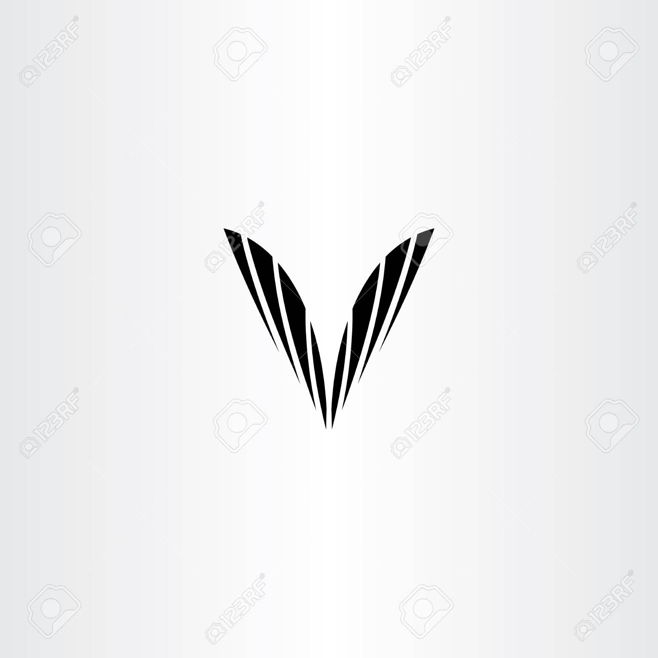 Black V Letter Symbol Vector Clip Art Text Royalty Free Cliparts
