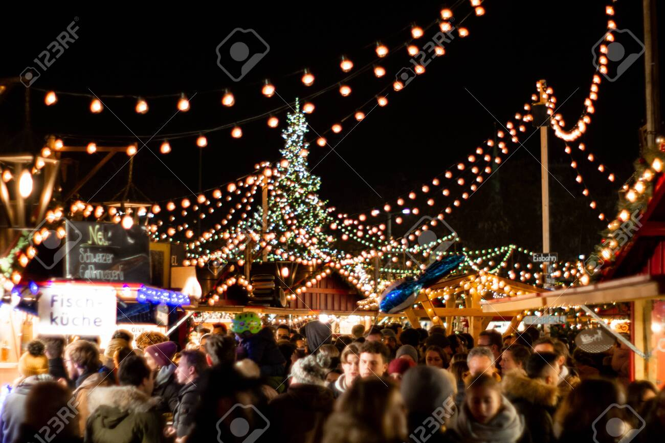 Zurich Christmas Market With Illuminative Decorative Lights At Stock Photo Picture And Royalty Free Image Image 137424936