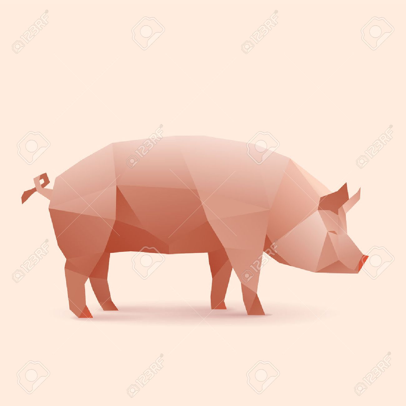 151 origami pig cliparts stock vector and royalty free origami polygonal illustration of pig illustration pooptronica