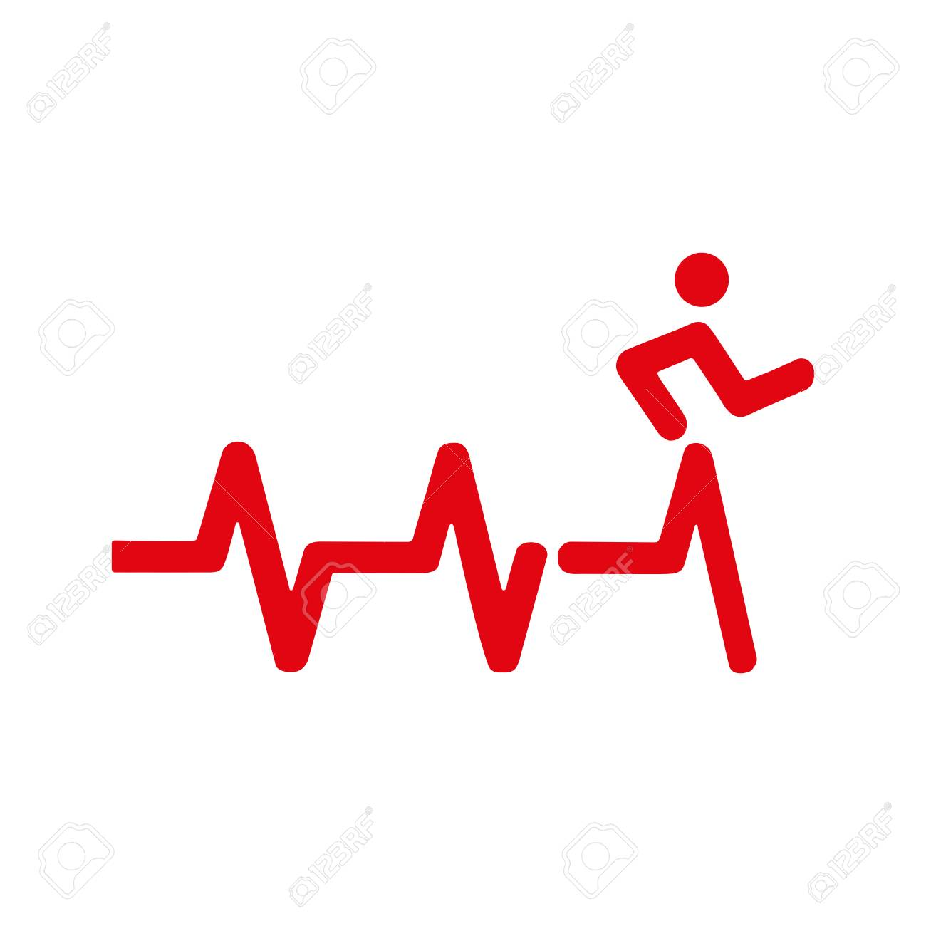 heartbeat icon electrocardiogram ecg or ekg isolated on white rh 123rf com ekg vector srca objasnjenje ekg vector change