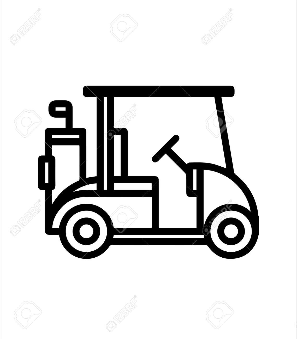 golf car icon ang golf club logo - 166548357