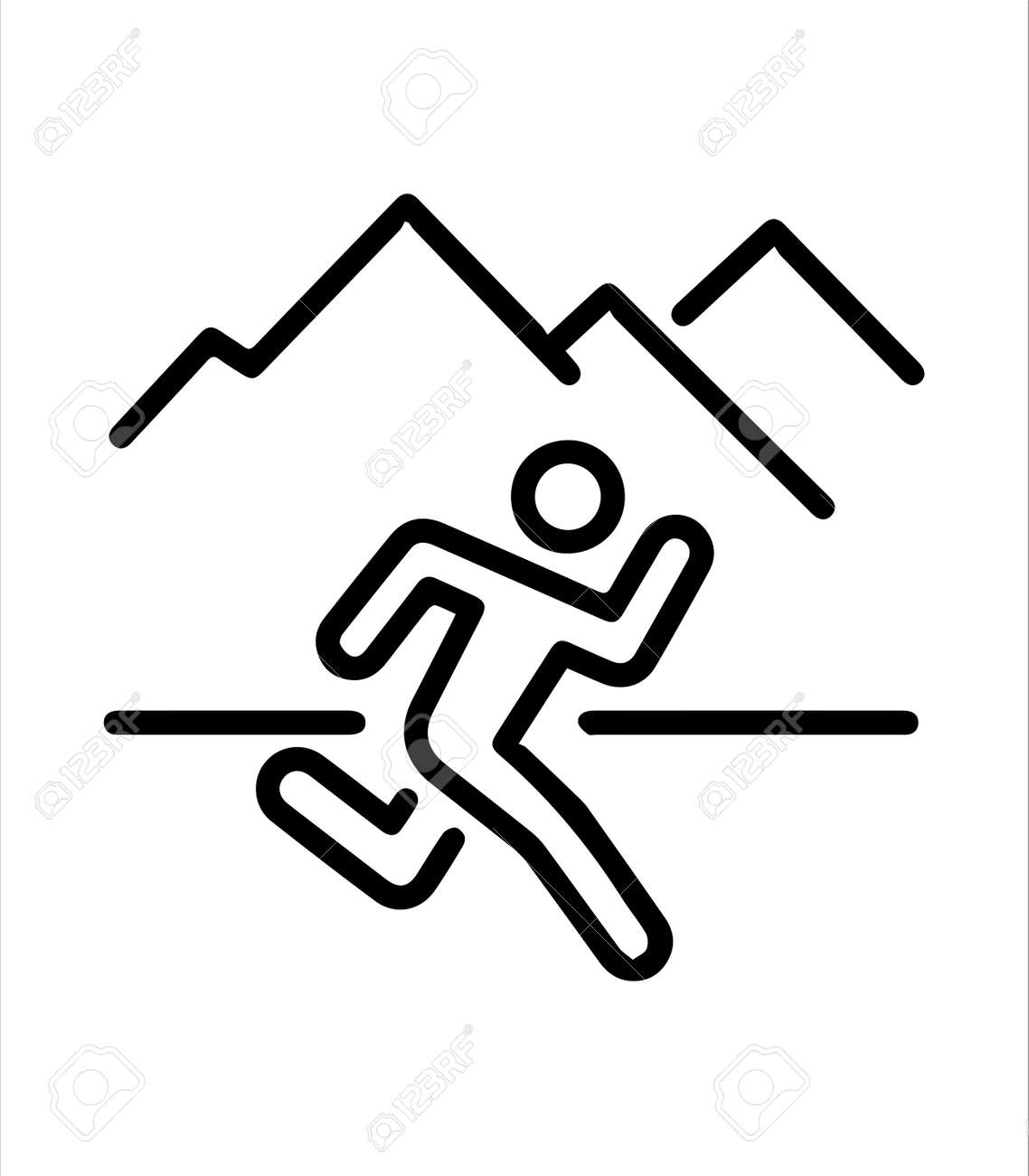 the outdoor sports running icon - 166507840