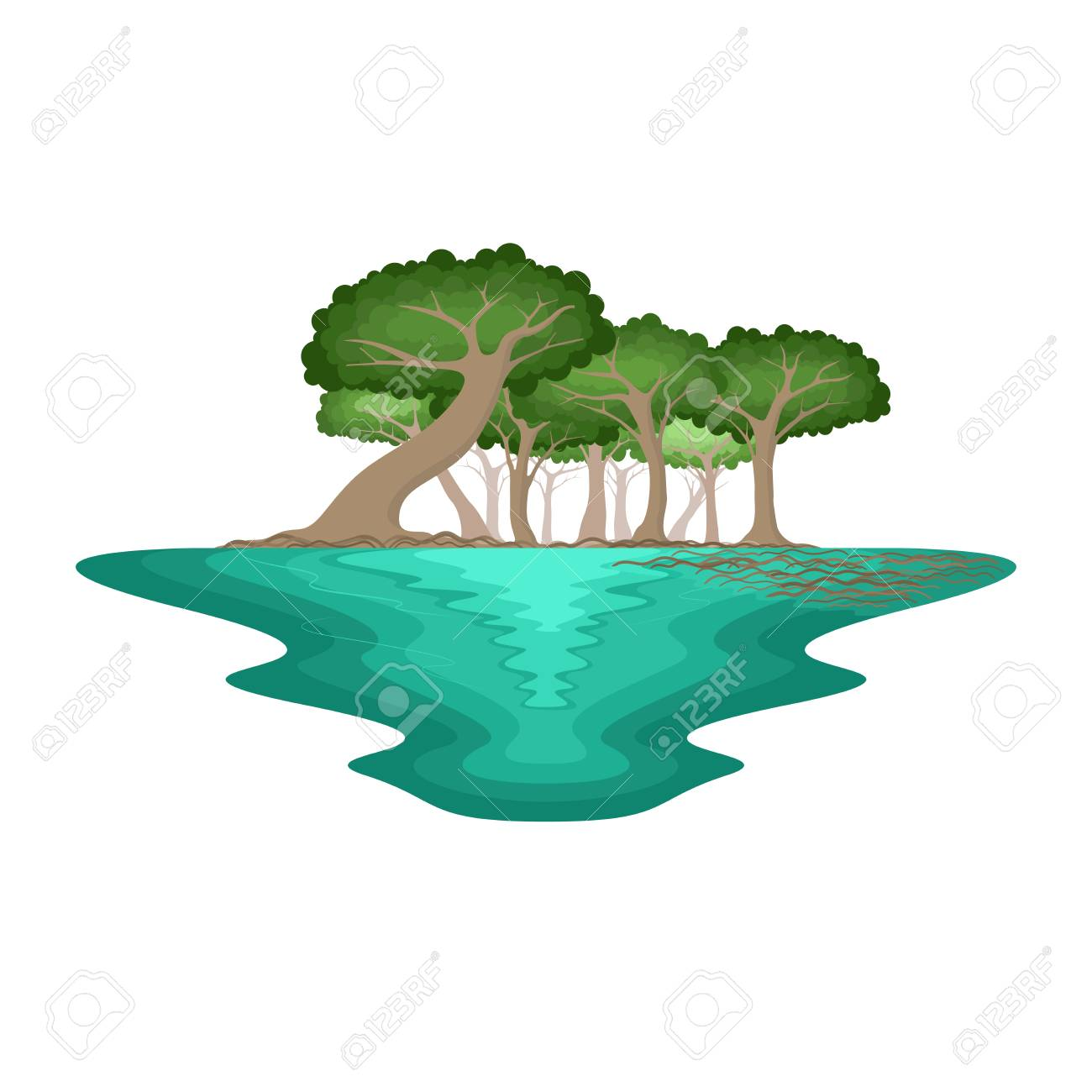 mangrove forest swamp environment tropical landscape vector royalty free cliparts vectors and stock illustration image 106099765 mangrove forest swamp environment tropical landscape vector