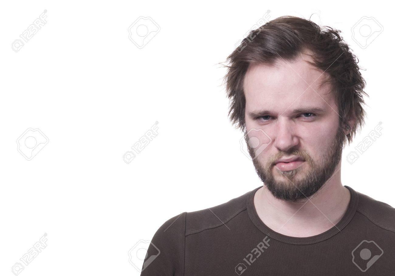 Grumpy man with copy-space. Stock Photo - 8113311