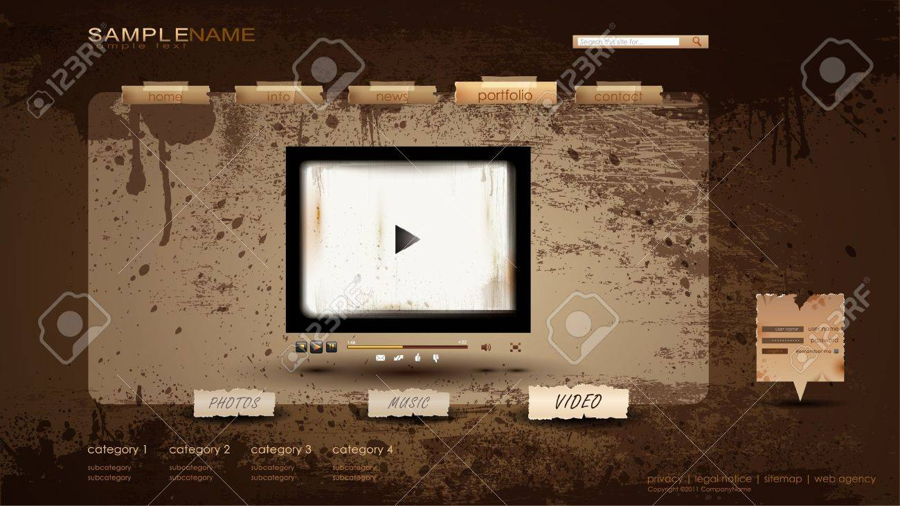 Vintage Portfolio Website Page/video 1600x900 Royalty Free ...