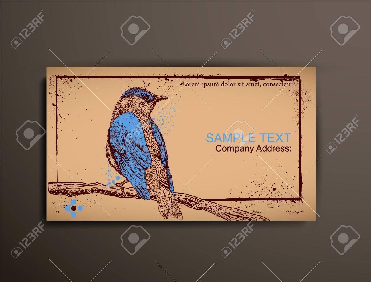 Businesscallingvisiting chipboard card bird royalty free cliparts businesscallingvisiting chipboard card bird stock vector 10933983 colourmoves