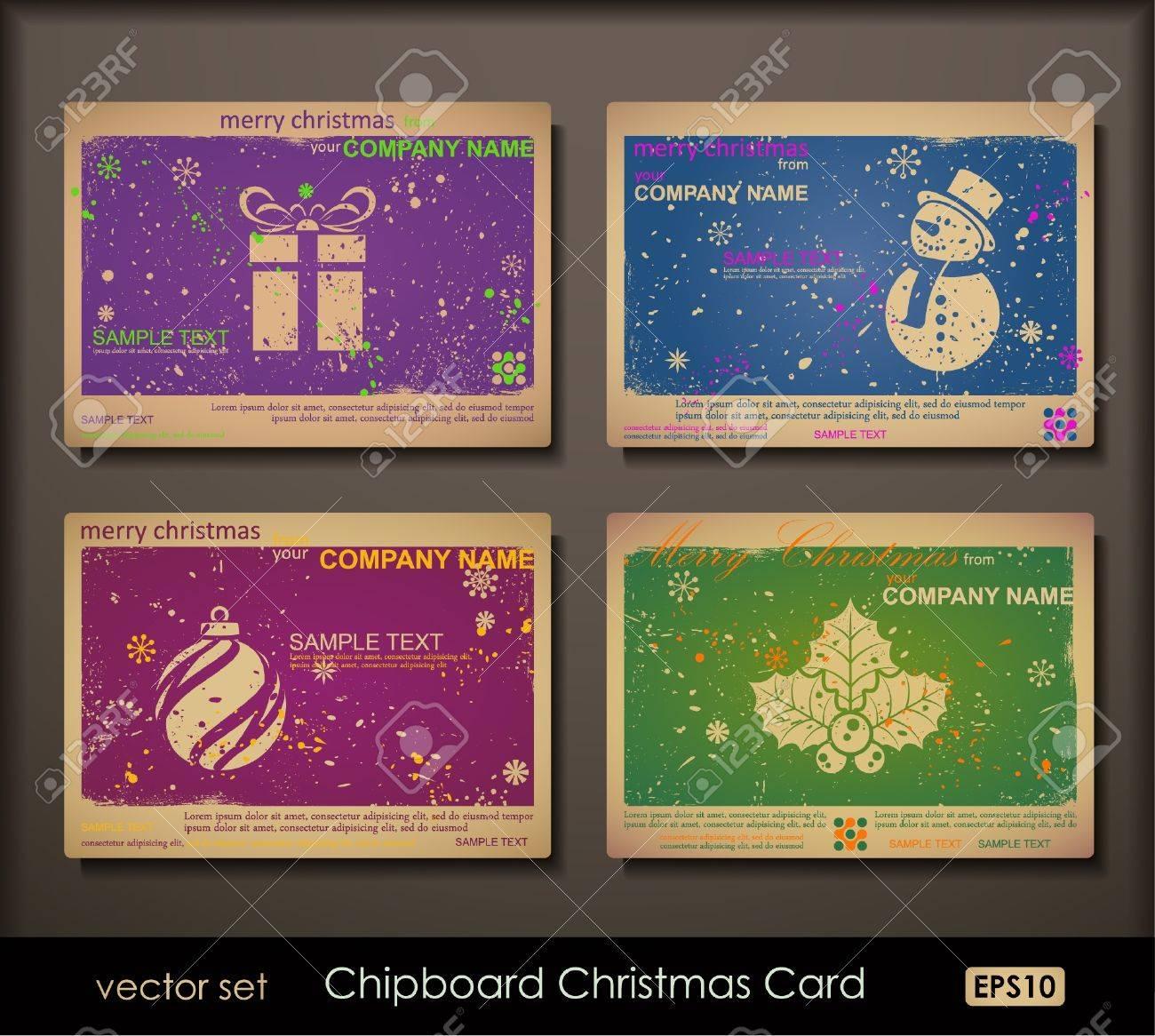 Bunte Sammlung Von Spanplatten Weihnachtskarten Zwei Farben Karten