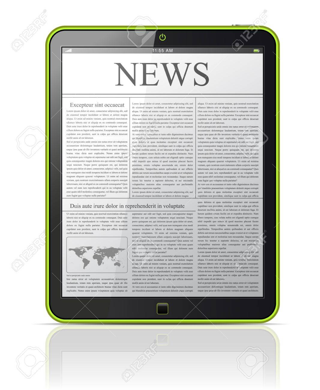 News on generic Tablet PC Stock Vector - 12810030