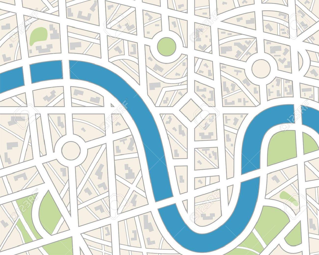 Generic City Map. Stock Vector - 12809894