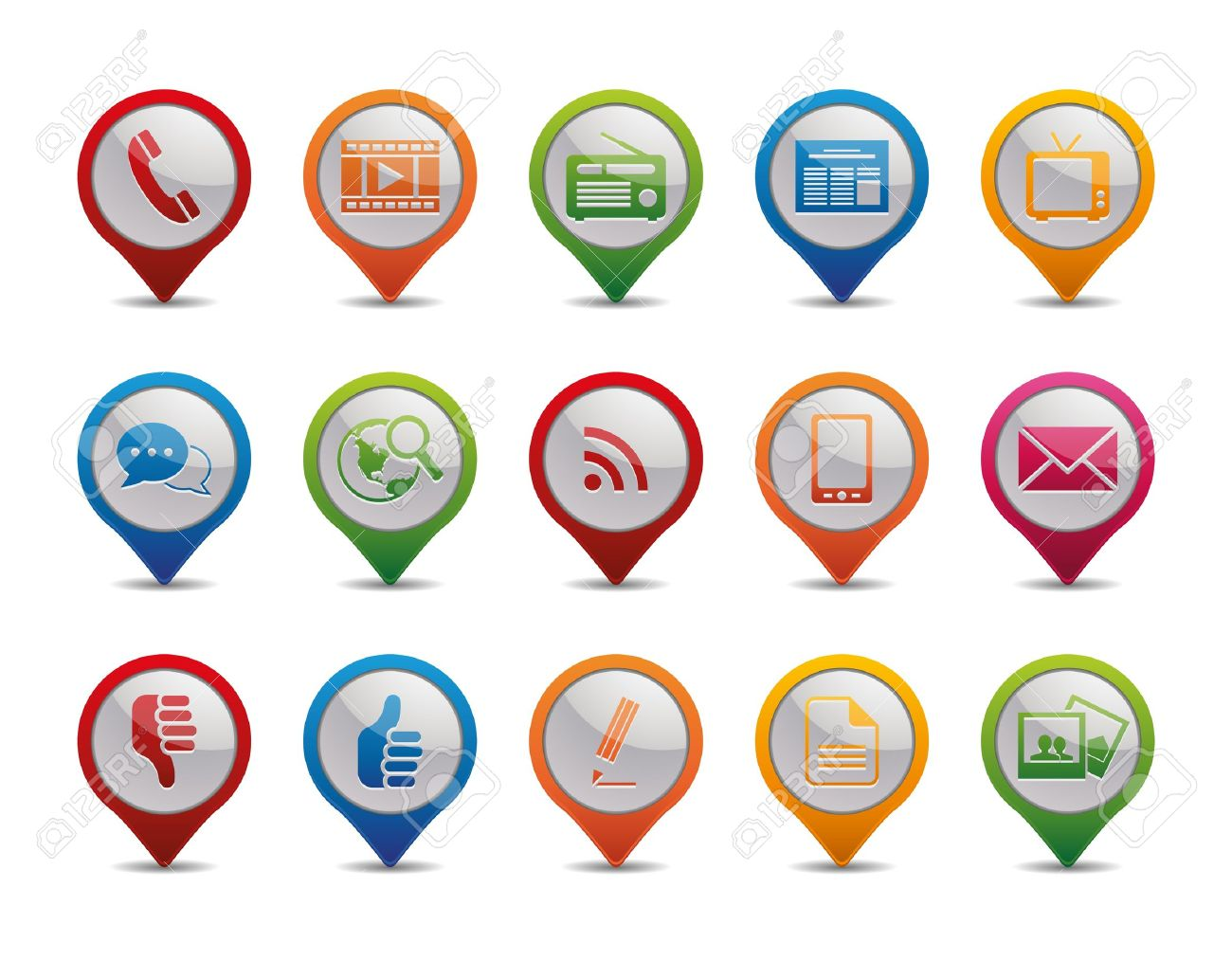 Communication icons in the form of gps icons royalty free cliparts communication icons in the form of gps icons stock vector 12809972 buycottarizona