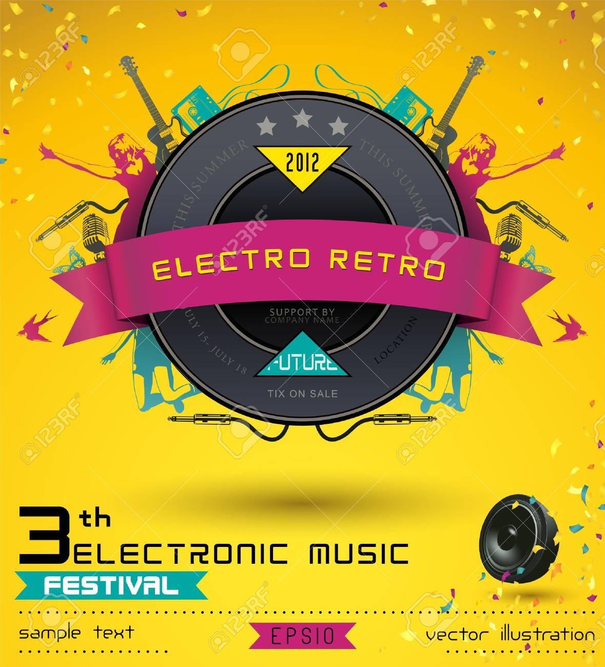 Music concept retro poster template royalty free cliparts vectors music concept retro poster template stock vector 14965925 maxwellsz