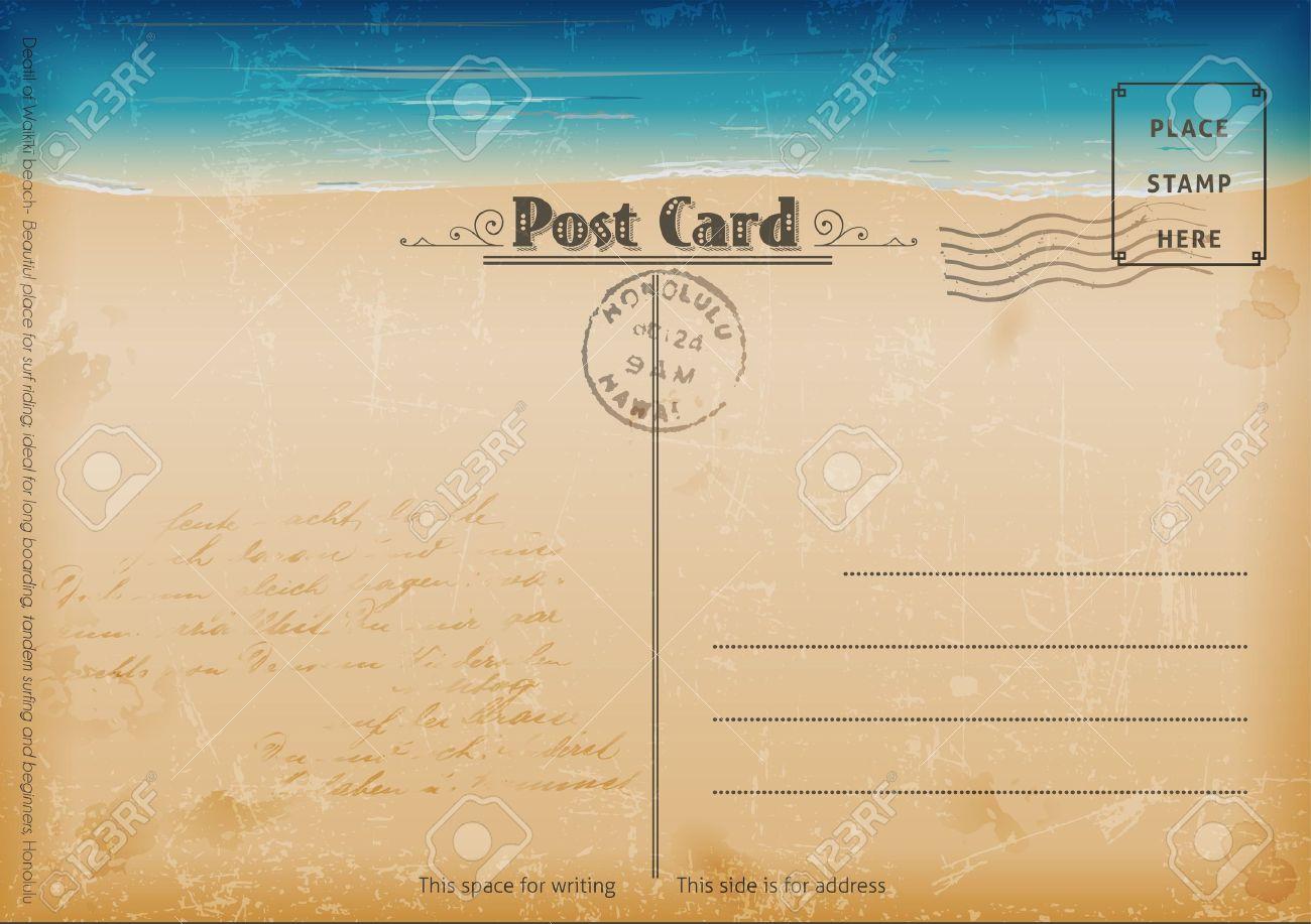 Vintage summer postcard Stock Vector - 14965923