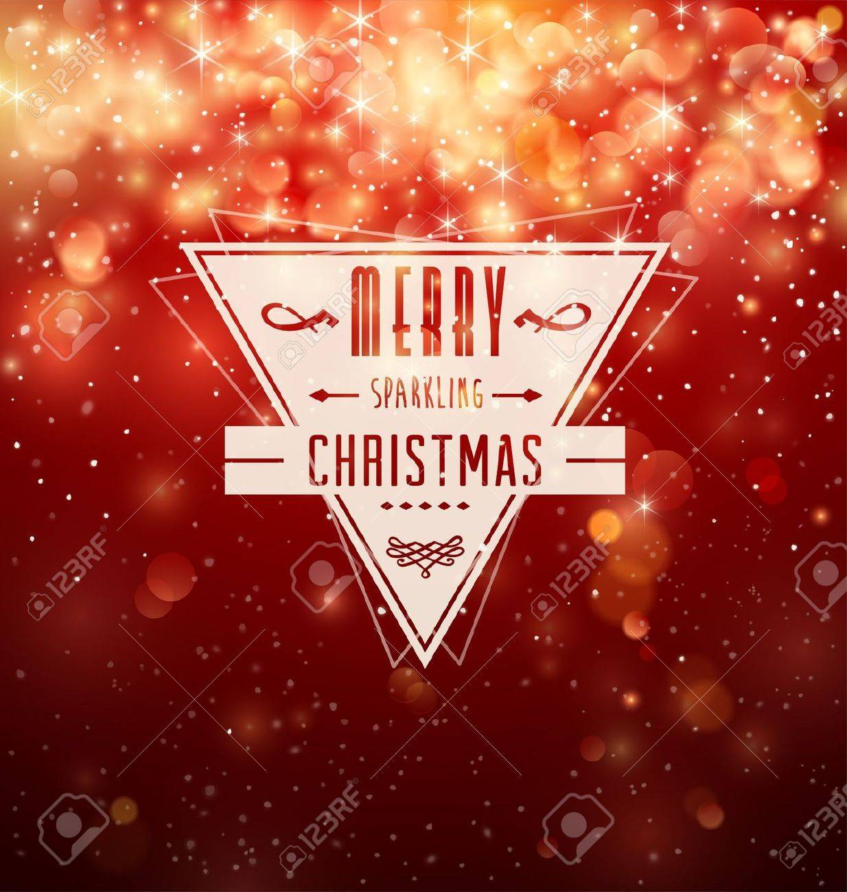 Retro Badge over red Christmas background Stock Vector - 16530354
