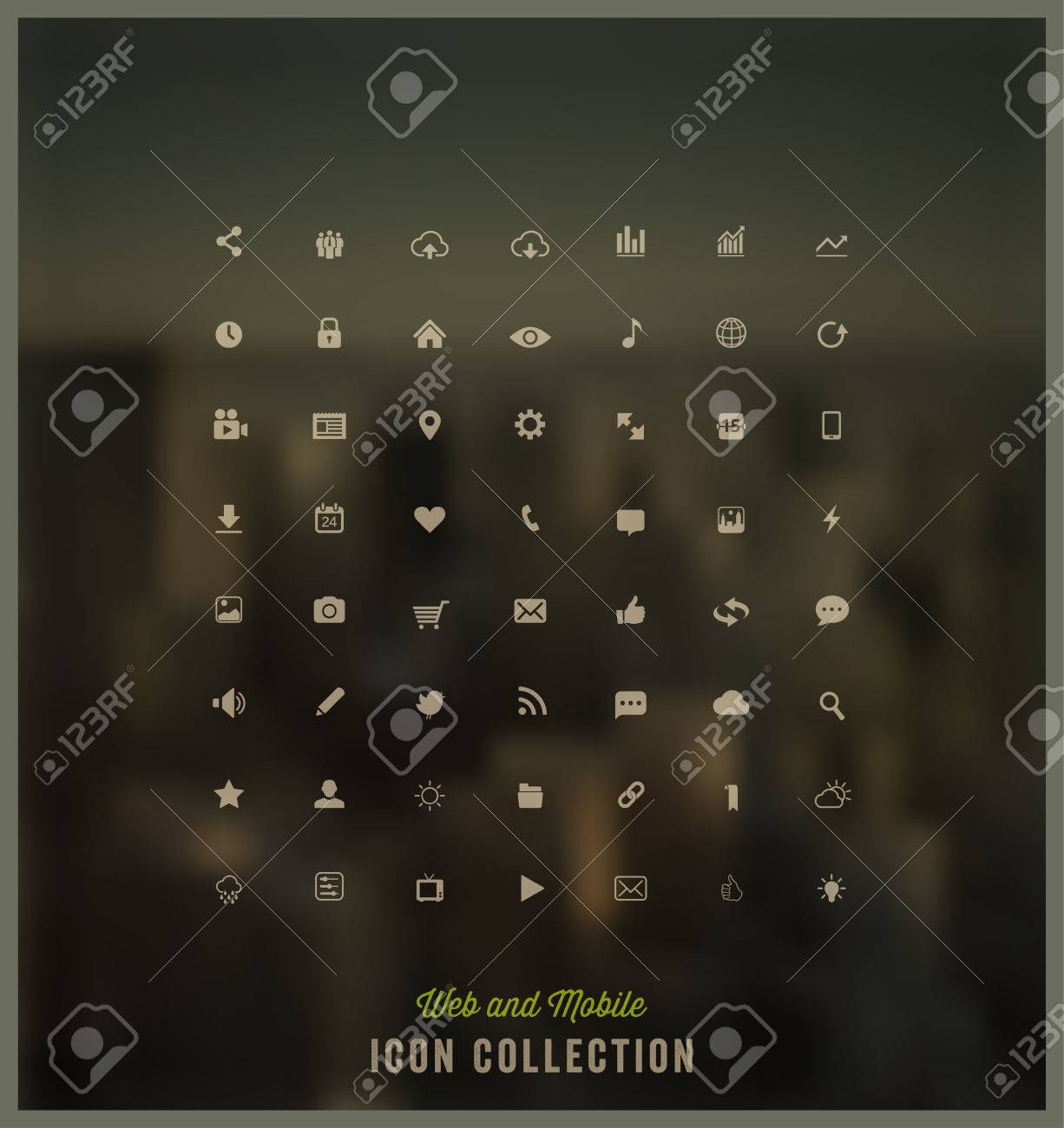Web and Mobile icon collection Stock Vector - 23235967