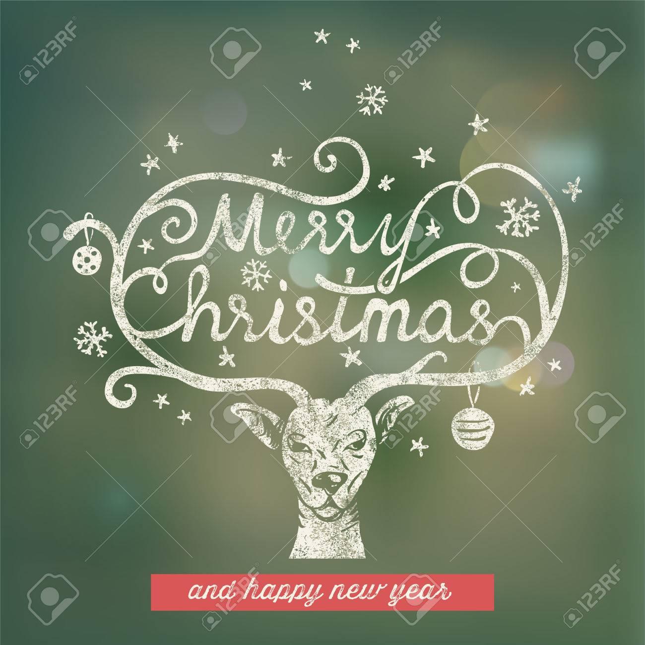 Christmas handwritten typography Stock Vector - 23235968