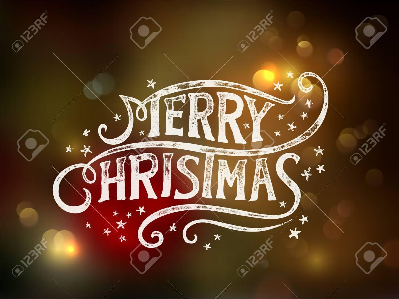 Christmas typography, handwriting Stock Vector - 24231084