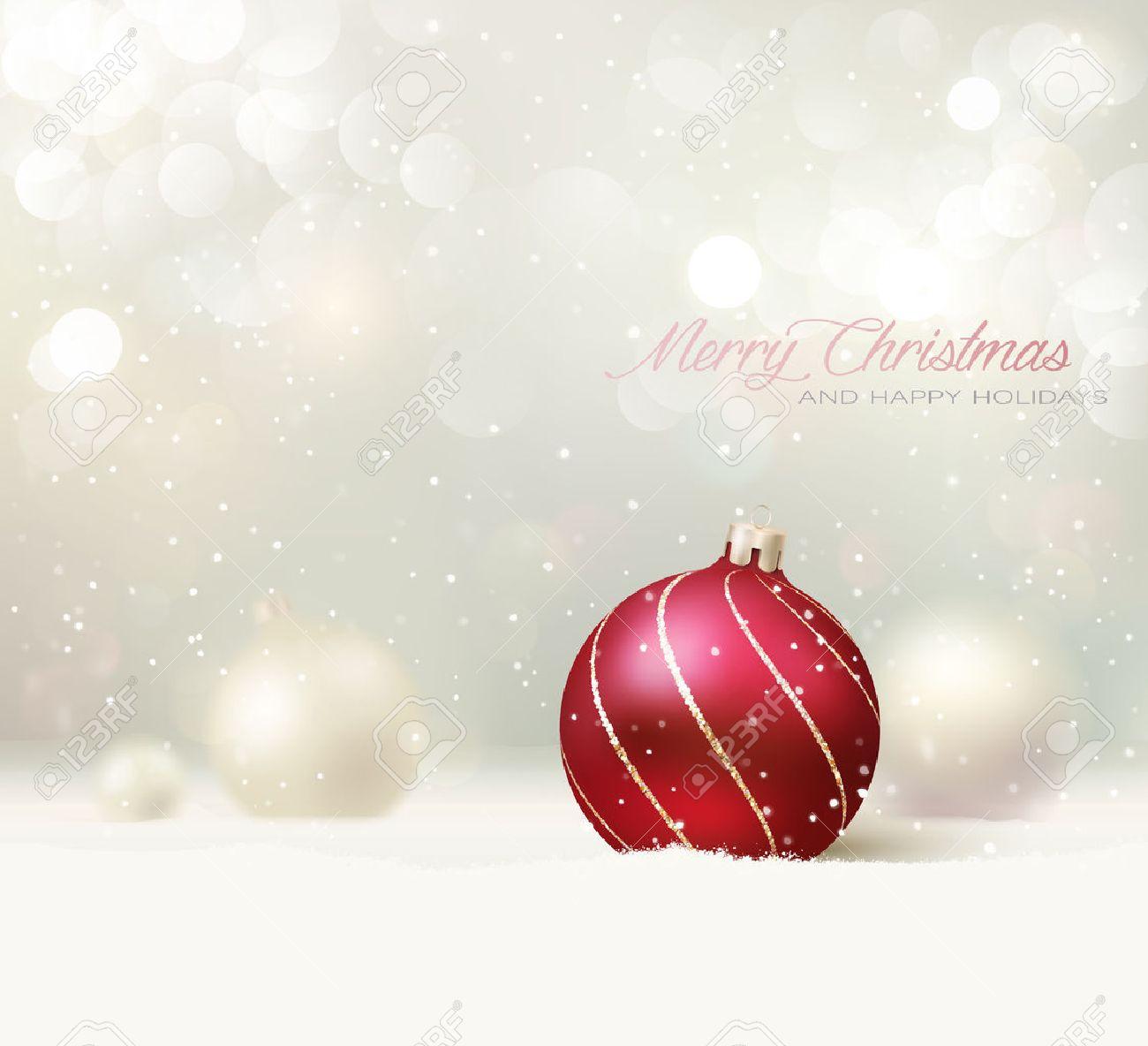 Elegant Christmas Card/Background - 33260164