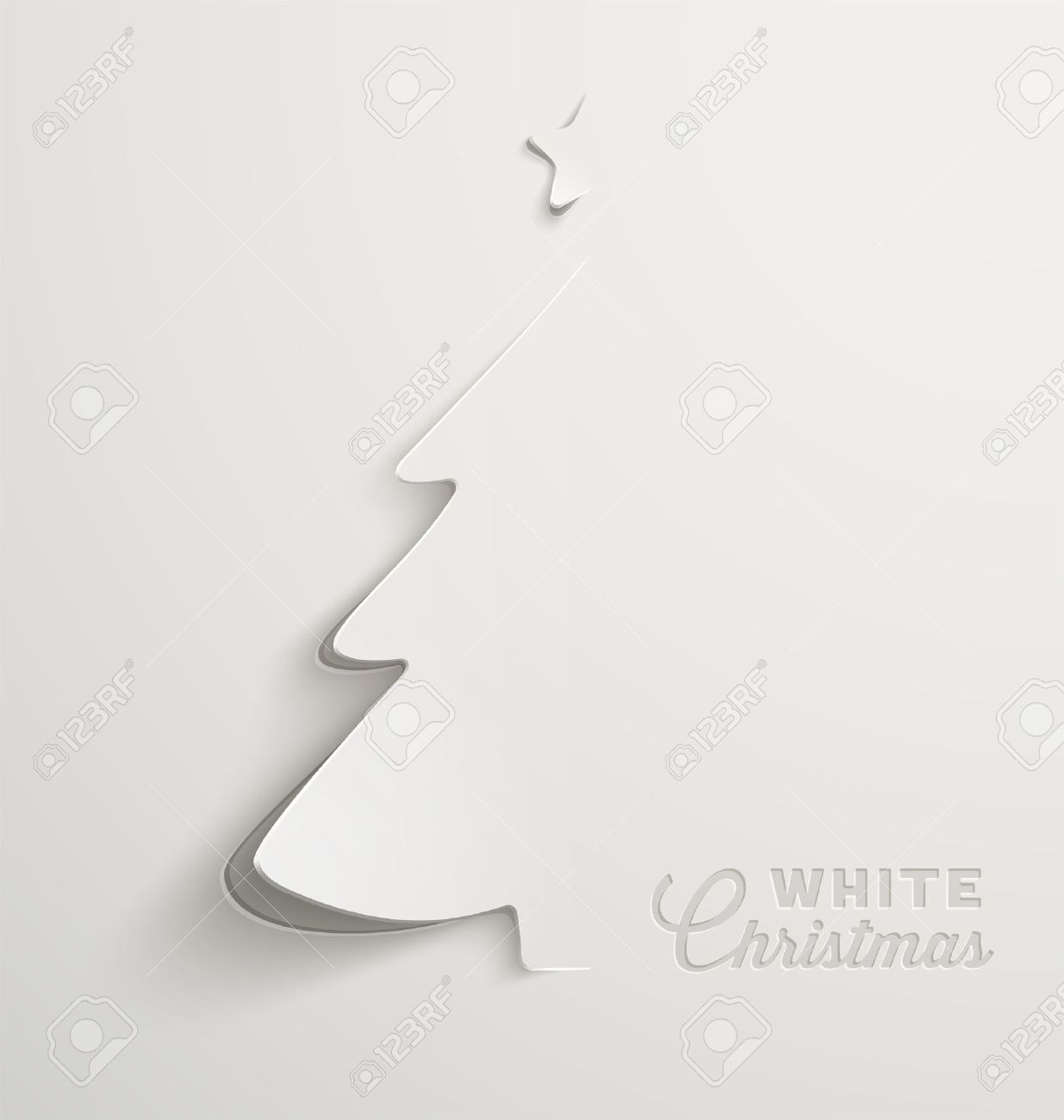 White Christmas, Minimal Christmas Card Design Royalty Free Cliparts ...