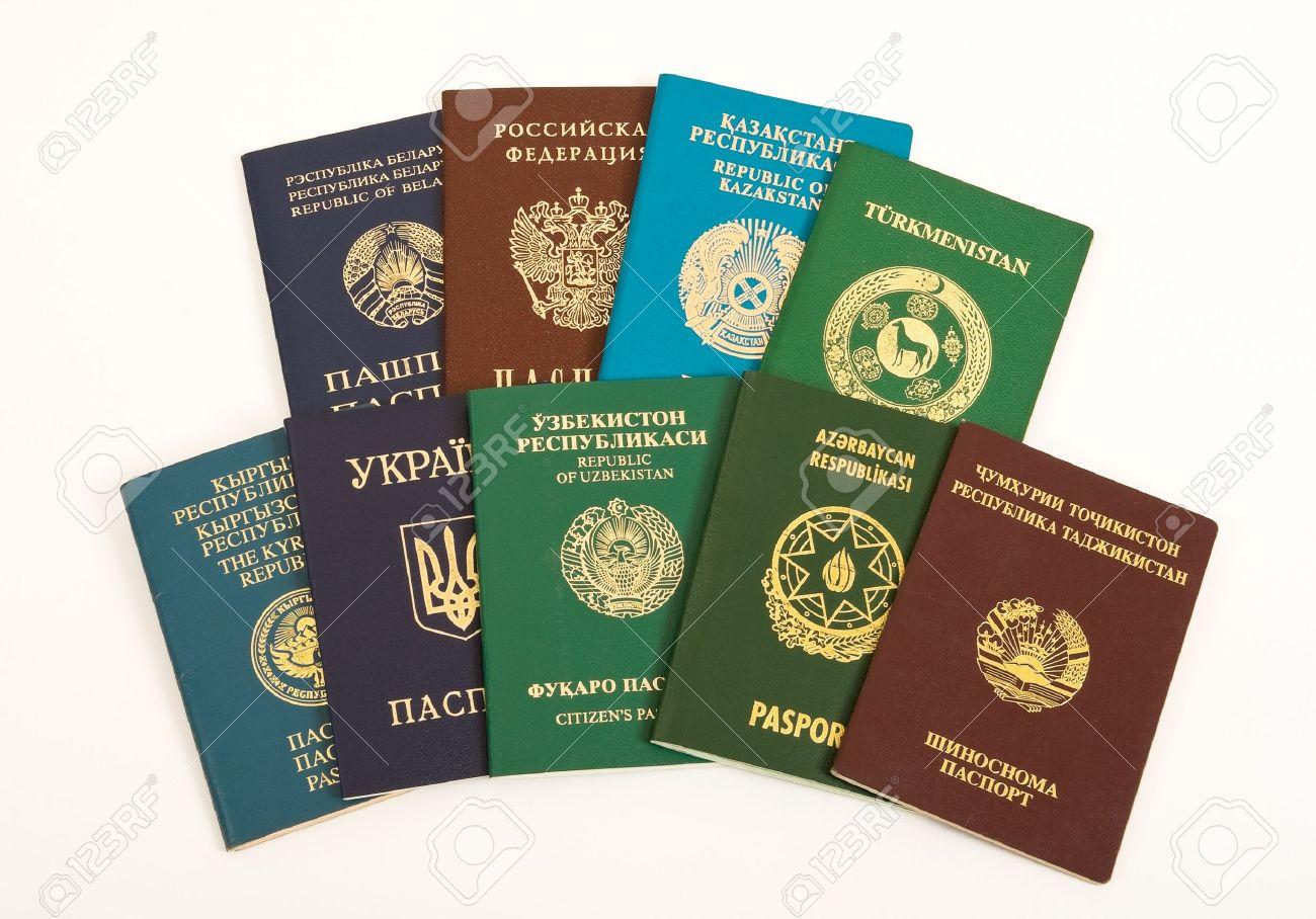 Passports on white background - 10873525