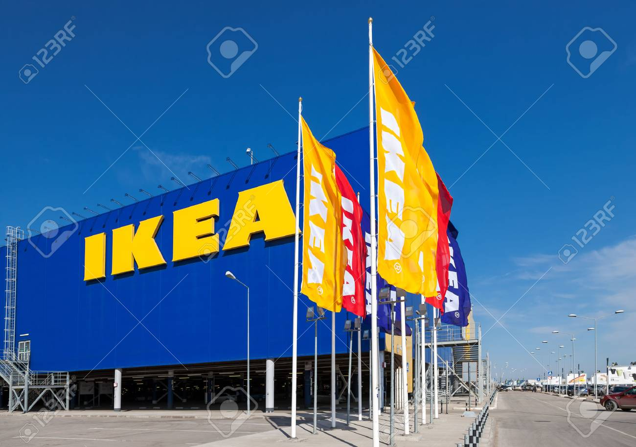 SAMARA, RUSSIA - APRIL 19, 2014: IKEA Samara Store. IKEA is the world's largest furniture retailer and sells ready to assemble furniture. Founded in Sweden in 1943 - 27693900