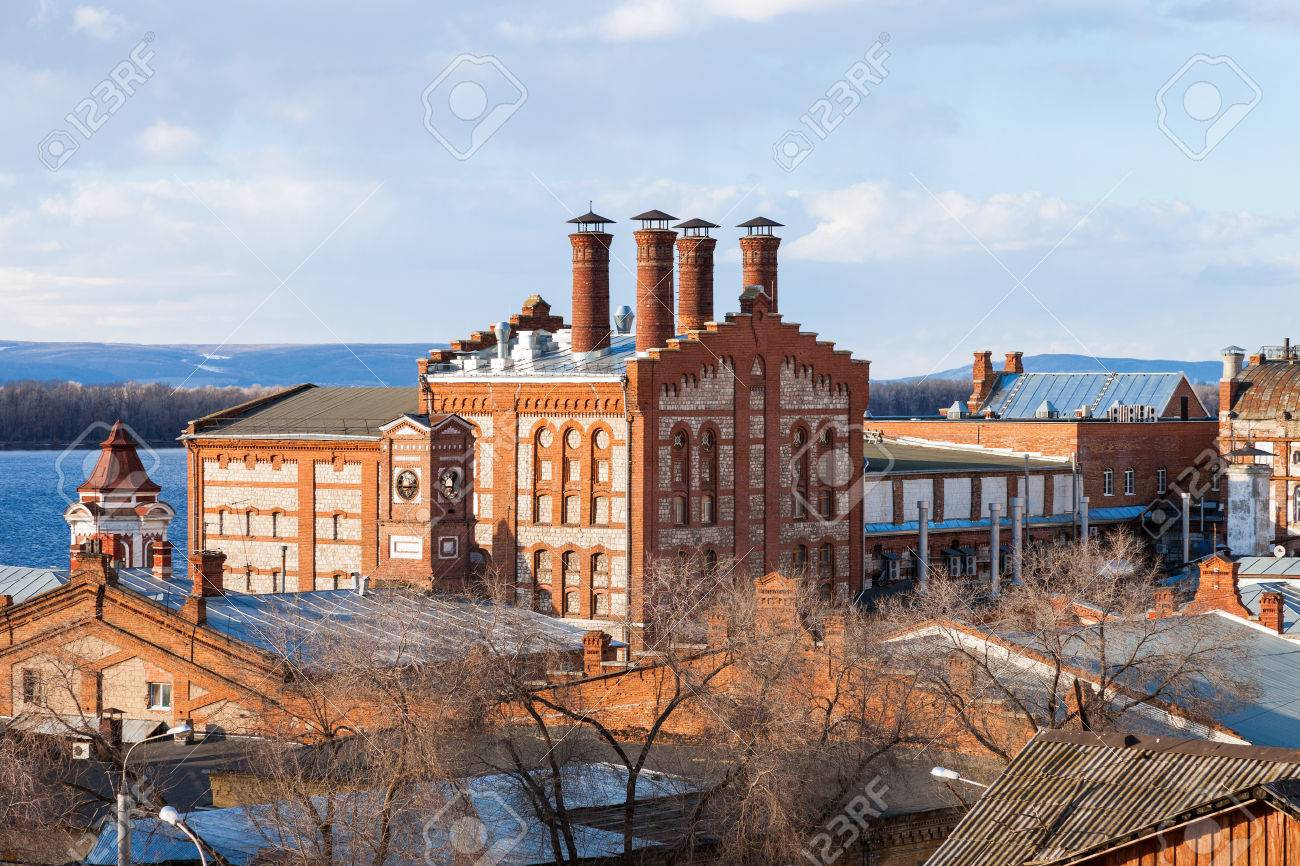 View on Zhiguli Brewery in Samara, Russia. Was founded in 1881 Stock Photo - 27851758