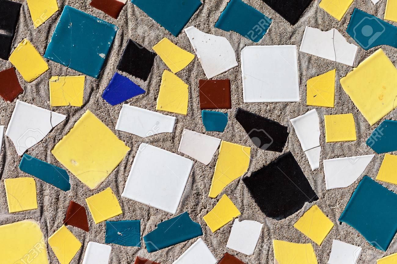 buntes mosaik glaskeramikfliesen-wandgestaltung lizenzfreie fotos