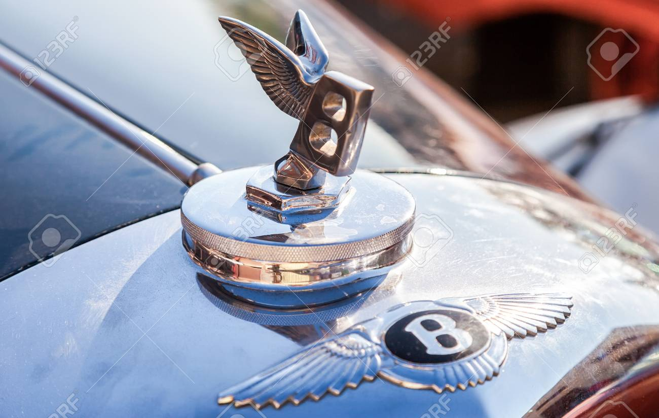 Samara Russia June 16 2013 Bentley Logo Flying B On A Stock Photo Picture And Royalty Free Image Image 48688772