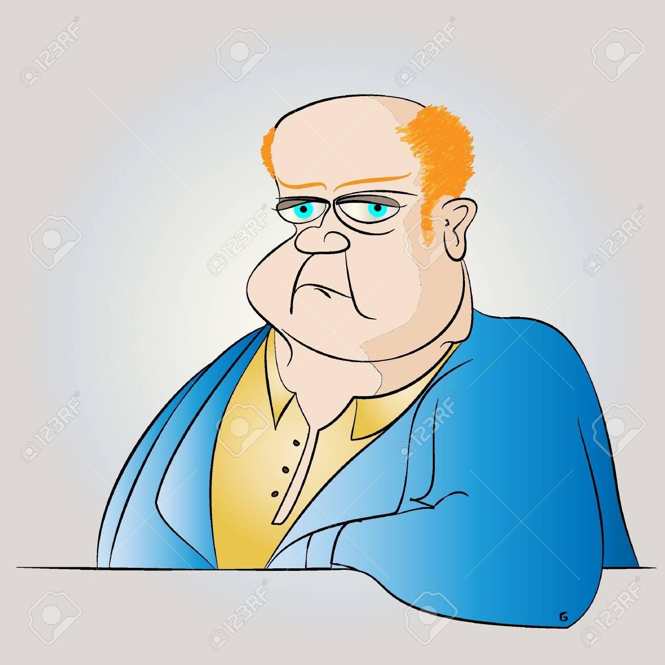 Fat Man in a Suit Vector Stock Vector - 10927690