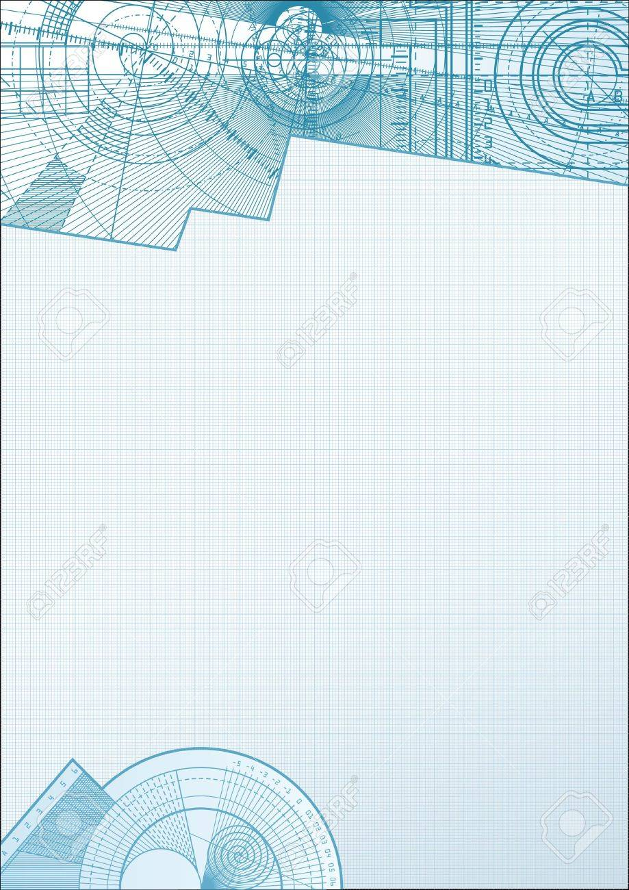 Vector illustration of a technical background with square paper element. Stock Photo - 4669778