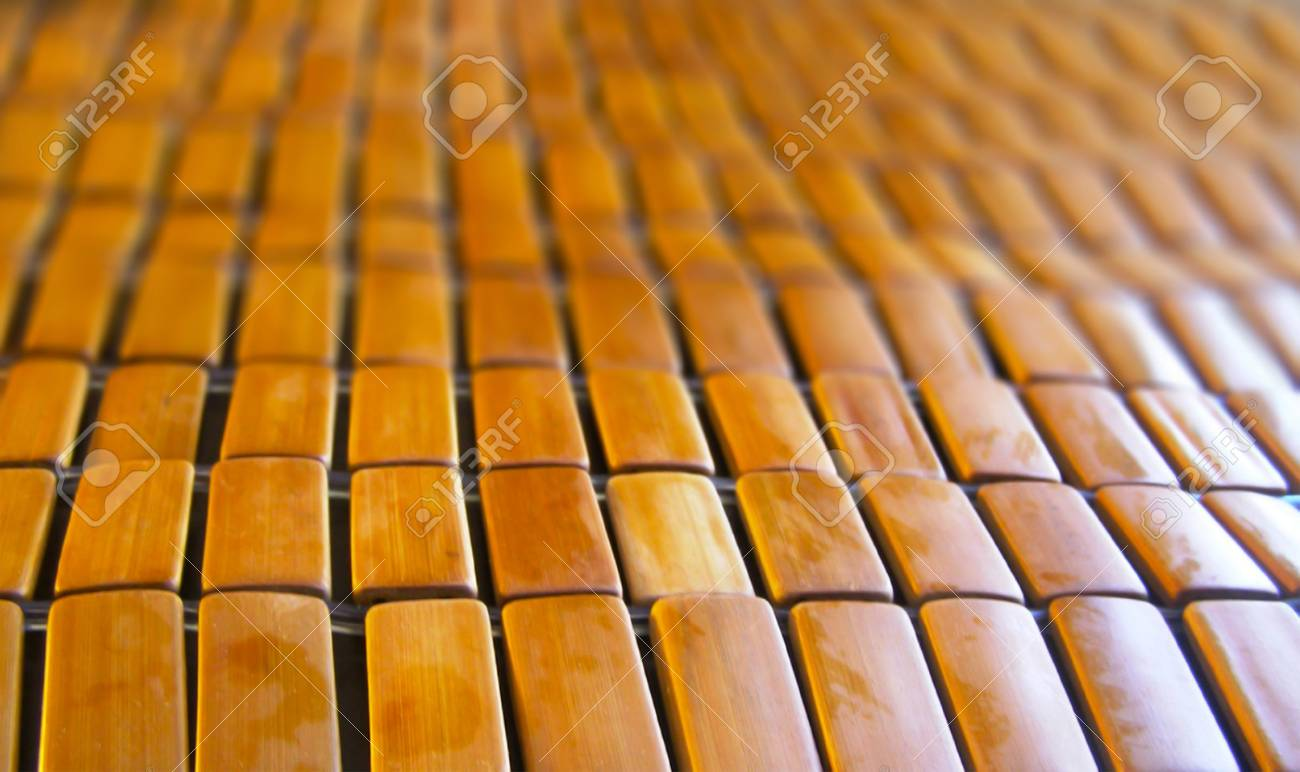 Bon Close Up Brown Bamboo Table Cloth In Perspective View Stock Photo   98374946