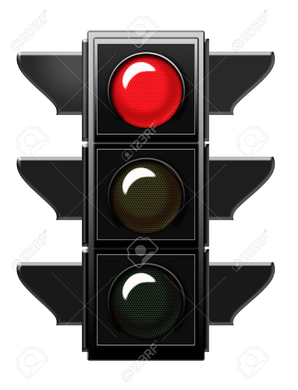 Traffic Light With Red Light Stock Photo, Picture And Royalty Free ... for Traffic Light Red Icon  545xkb