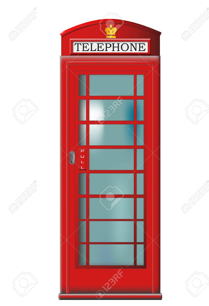 English red telephone booth Stock Vector - 6559279